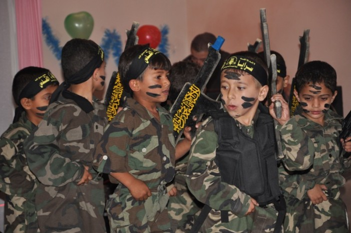 Kindergartners Train for Islamic Jihad at Gaza Graduation Ceremony