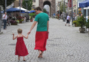 German Dad Supports Crossdressing Son By Wearing Skirts