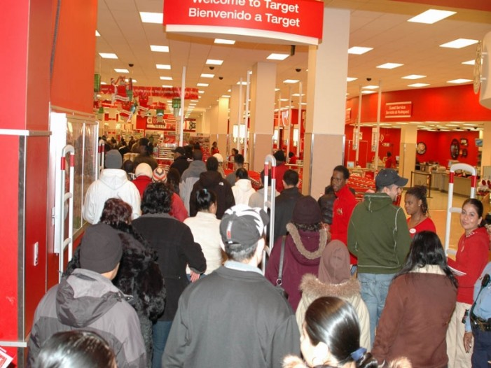 Mayhem Ensues as Crowds Push and Shove Their Way Through Stores on Black Friday
