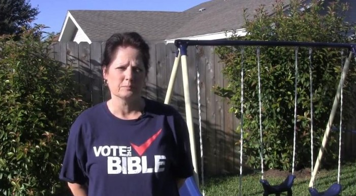 Texas Officials Force Grandmother to Cover 'Offensive' 'Vote the Bible' T-Shirt at Polls