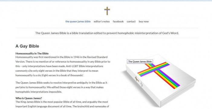 New 'Queen James Bible' Removes References to Homosexuality From Scripture