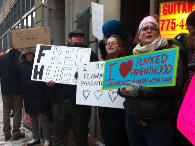 Restaurant Owner Fuels Abortion Advocates' Protest of Pro-Life Christians on Streets of Portland