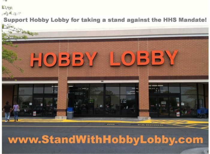 Christians 'Stand With Hobby Lobby' As Company Faces Fine of 1.3 Million Daily for Defying Obamacare
