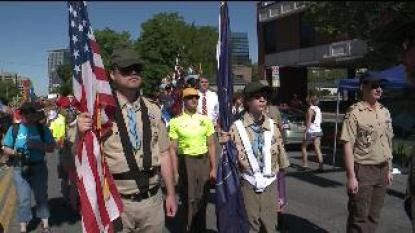 Boy Scouts March in Uniform at Utah Homosexual Pride Parade
