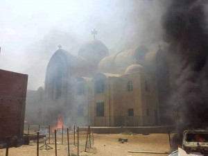 Burning Egyptian Church
