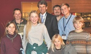The Wunderlich family, with Michael Farris of the HSLDA.