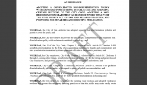 San Antonio Ordinance