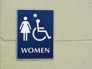 Bathroom sign pd