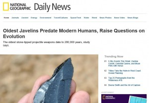 National Geographic headline on the discovery