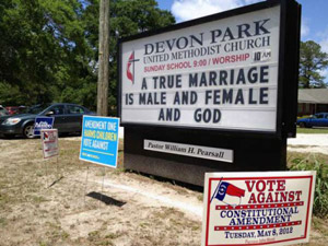 UnitedMethodistMarriageSign