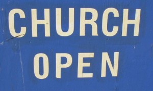Church Open Sign pd