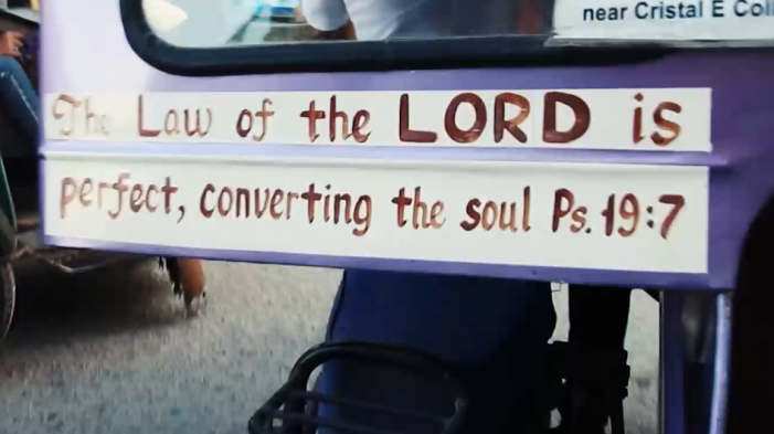 Filipino City Requires Taxi Drivers to Display Bible Verses on Vehicles