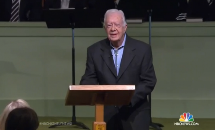 Cancer-Stricken 'Gay Marriage' Advocate Jimmy Carter Packs Sunday School Class