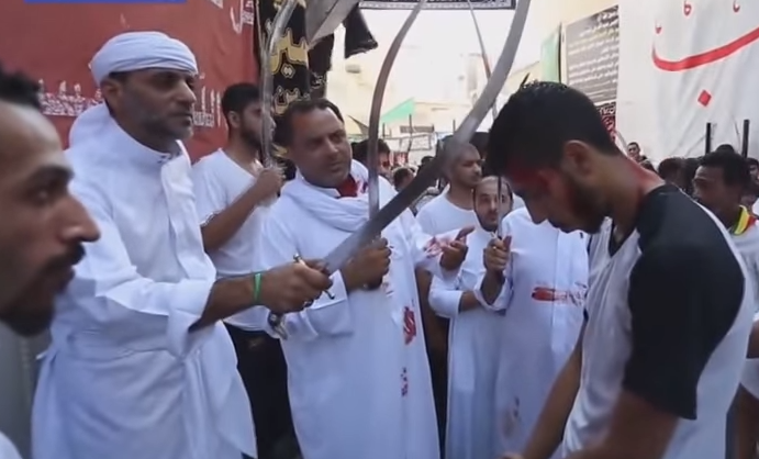 Muslim Men, Children Cut and Whip Their Bodies Bloody for Muhammad's Grandson