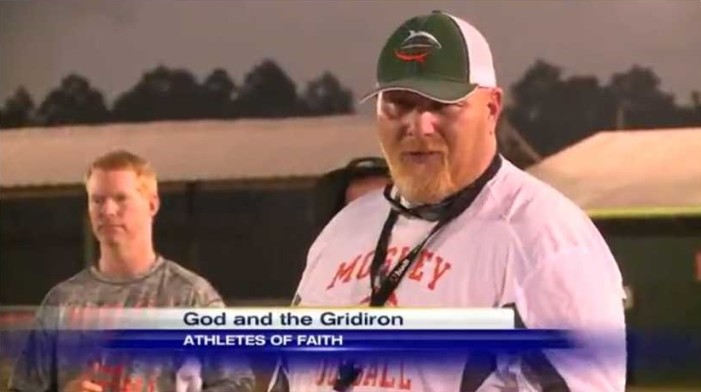 Atheist Activist Group Wants Florida Football Coach Fired for Sharing Christ With Students