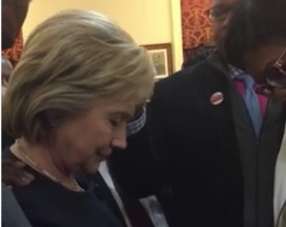 'Pastors' Lay Hands on 'President-to-Be Clinton' to 'Decree and Declare Favor of the Lord'