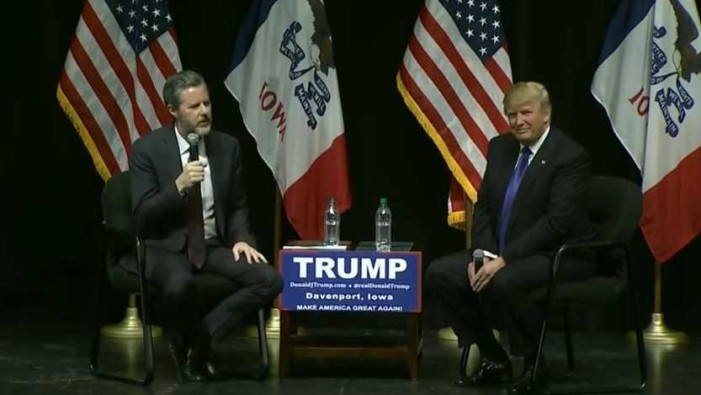 Jerry Falwell Jr. Compares Donald Trump to King David, Talks About Watching Elton John Together on Private Jet
