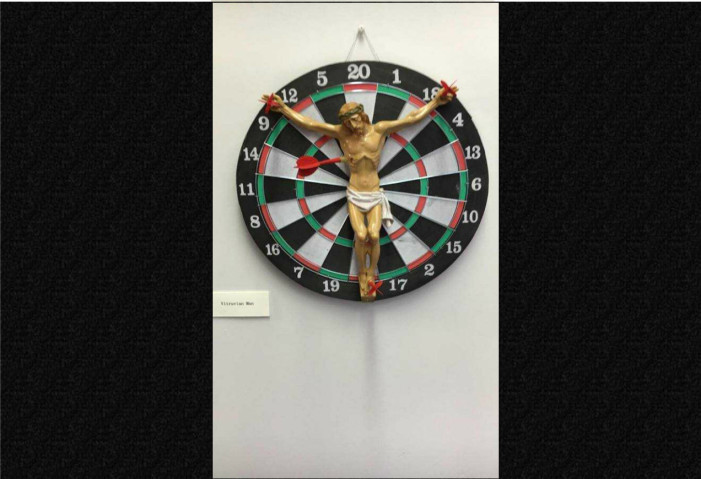Rutgers Removes Depiction of Jesus Crucified on Dartboard From Art Display Following Complaints