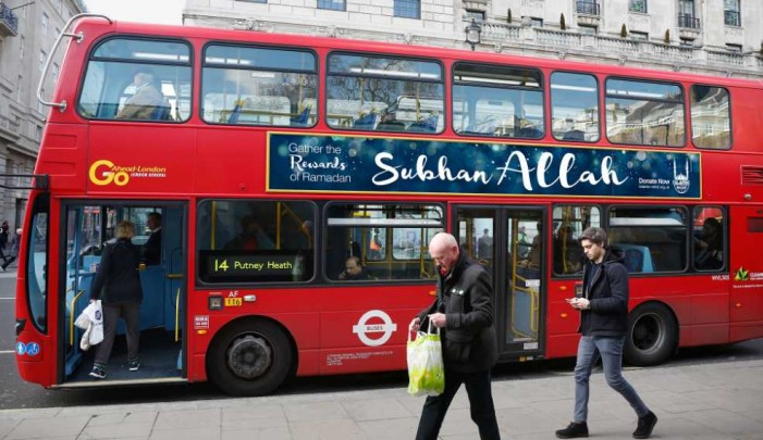 UK Buses to Declare 'Glory to Allah' for Ramadan Advertising Campaign