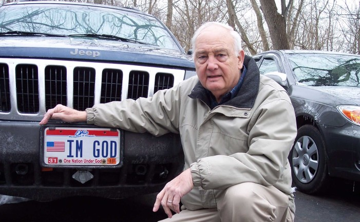 Kentucky Atheist Sues After DMV Rejects Request for Specialty 'I'm God' License Plate