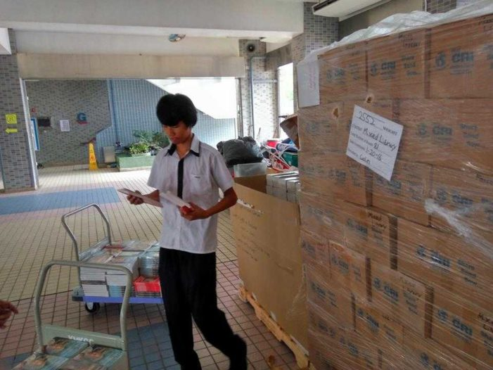 Ministry Sends Shipment of Books, Bibles to Hong Kong for Distribution