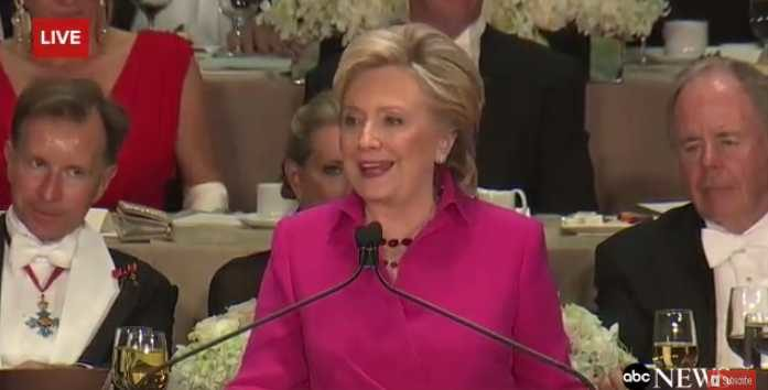 Clinton at Al Smith Dinner: 'In Order to Achieve Salvation, We Need Both Faith and Good Works'