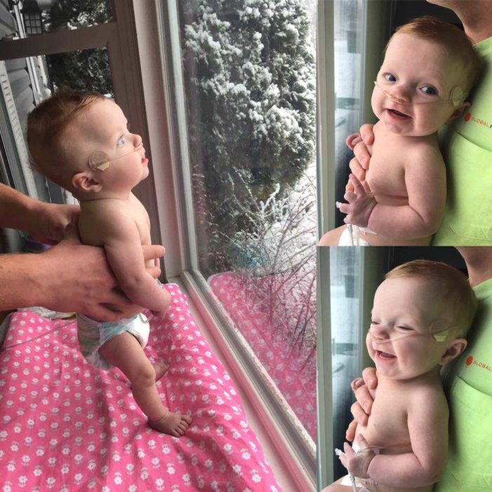 Miracle Baby Sees First Snowfall After Mother Refuses Abortion