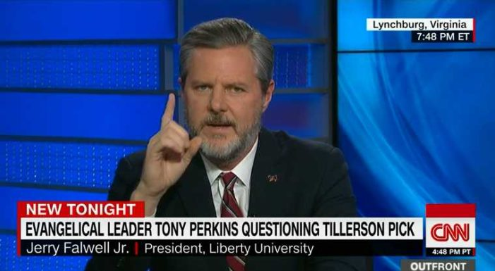 Jerry Falwell Jr. Says Tillerson's Support for Openly 'Gay' Scouts Irrelevant to Being Secretary of State