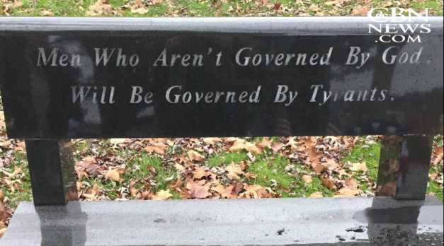 City Council Unanimously Votes to Remove Bench That Features 'God' Quote From State Founder