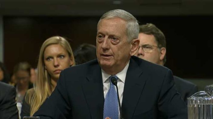 Defense Nominee James Mattis on Open Homosexuals in Military: 'I've Never Cared' About Their Sexuality