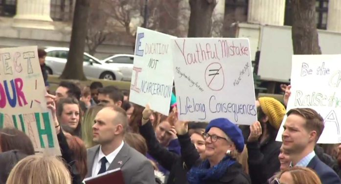 Rally at New York Capitol Calls for Raise in Age When Teens Criminally Charged as Adults