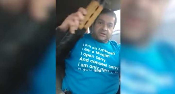 Muslim Man Brandishes Guns Outside of Christian Event on Facebook Live, Threatens 'Be Scared'
