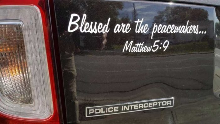 Virginia Sheriff Instructed to Remove 'Peacemaker' Bible Decals From Patrol Vehicles