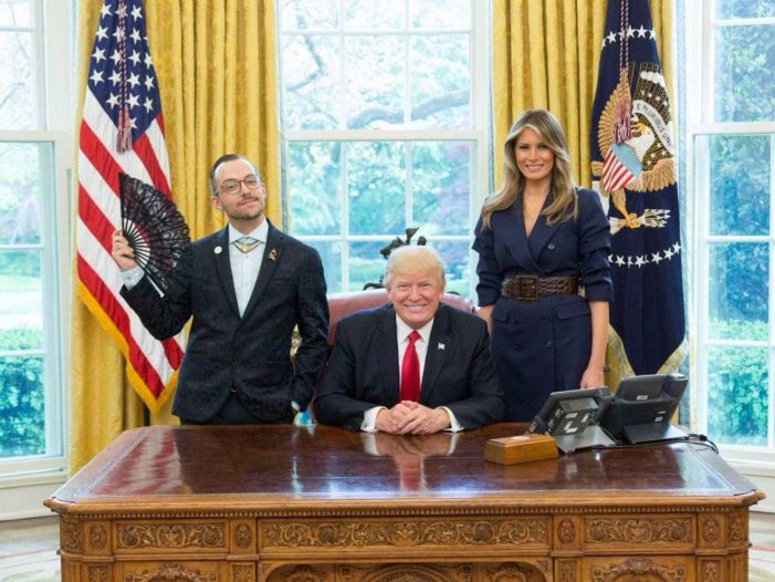 Homosexual Teacher Explains Decision to Pose 'Visibly Queer' in White House Photo With Trump