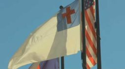 Community Supports Christian Flag Flying Outside Public School Following Atheist Complaint