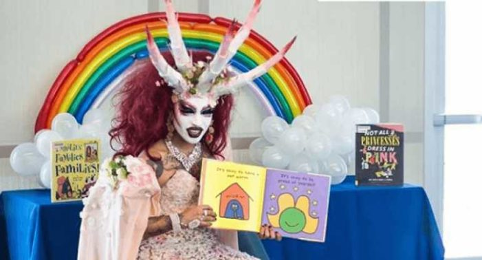 'Killer Klown' Drag Queen Reads to Children at Michelle Obama Library for 'LGBTQ History Month'
