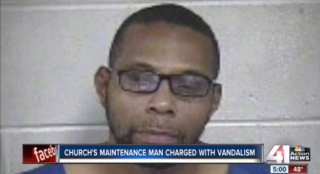 Church Maintenance Man Charged After Using Racist Graffiti, Arson as Cover-Up for Burglary