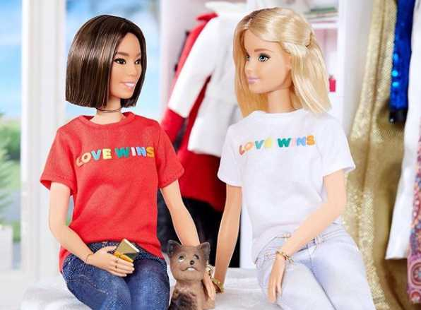 Barbie Instagram Account Shows Doll Wearing Homosexual Advocacy 'Love Wins' T-Shirt