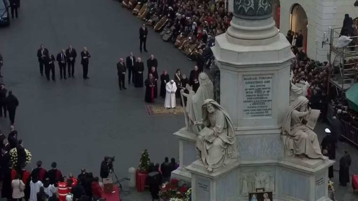 'Pope Francis' Claims Angel's Greeting to Mary as Being 'Full of Grace' Meant She Was Without Sin