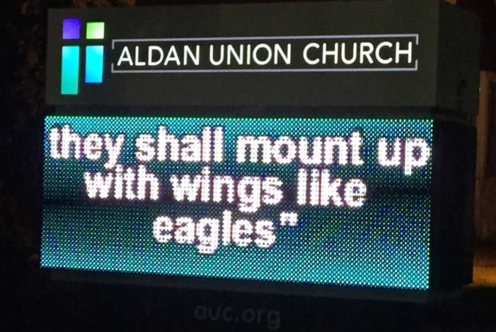 'With Wings Like Eagles'? Church Signs Twist Scripture in Idolatrous Super Bowl Mania