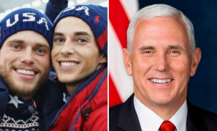 Prideful U.S. Olympic Skier Flaunts Homosexuality in Opposition of Pence, VP Says He's 'Proud' of 'All' Athletes