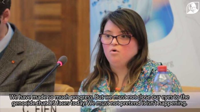 'Put an End to the Genocide': Woman With Down Syndrome Asks UN to Condemn Abortion of Babies With Extra Chromosome