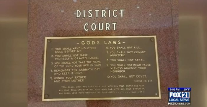Minnesota Courthouse Removes God's Laws From Wall Following Complaint From Atheist Group