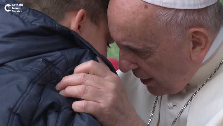Your atheist day's in heaven-pope to boy
