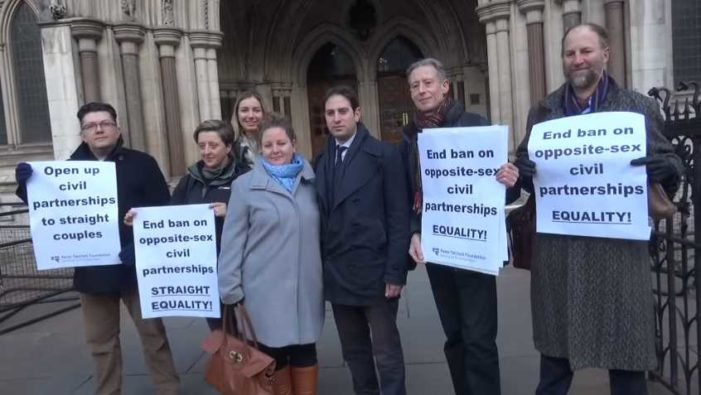 UK Supreme Court Rules Offering Civil Unions Only to Homosexuals Is 'Discriminatory'