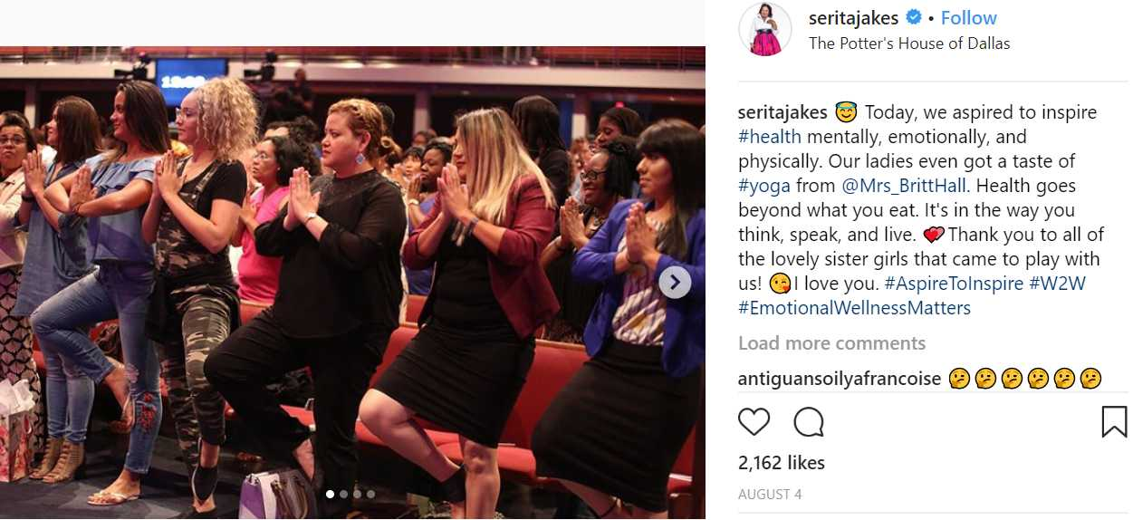 Concerns Raised After T D  Jakes' Wife Posts Photos of Yoga