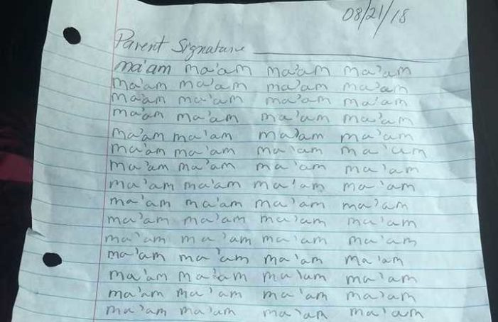 Fifth-Grade Student in North Carolina Disciplined After Calling His Teacher 'Ma'am'