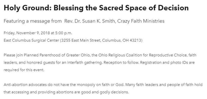 Apostate Clergy to Hold Interfaith Gathering to 'Bless' Ohio Planned Parenthood Abortion Facility