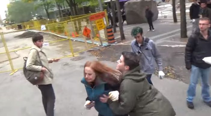 Toronto Police Investigating After Video Captures Woman Shoving, Throwing Metal Clamp at Pro-Life Advocate