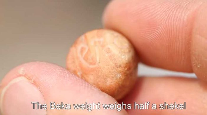 Biblical Beka Weight From Solomon's Temple Era Found During Soil Sift in Jerusalem